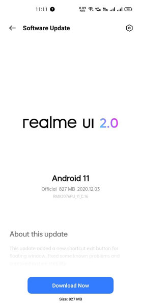 Realme X50 Pro Android 11 Stable Update