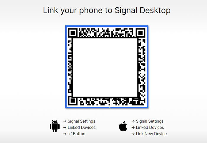 How to Link your phone to Signal Desktop
