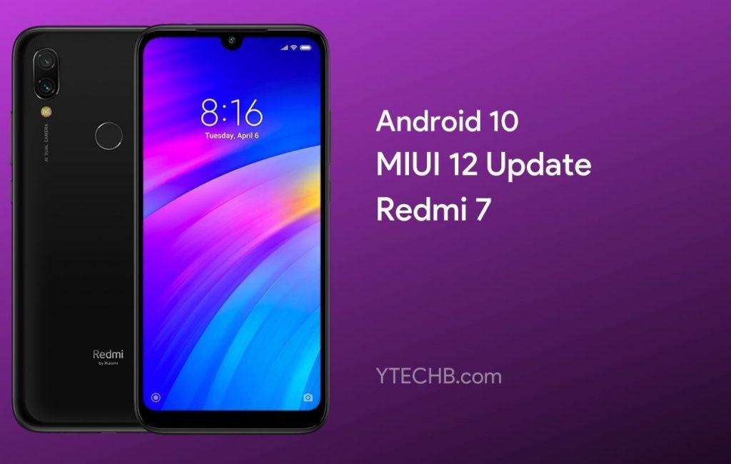 MIUI 12 Update for Redmi 7 China