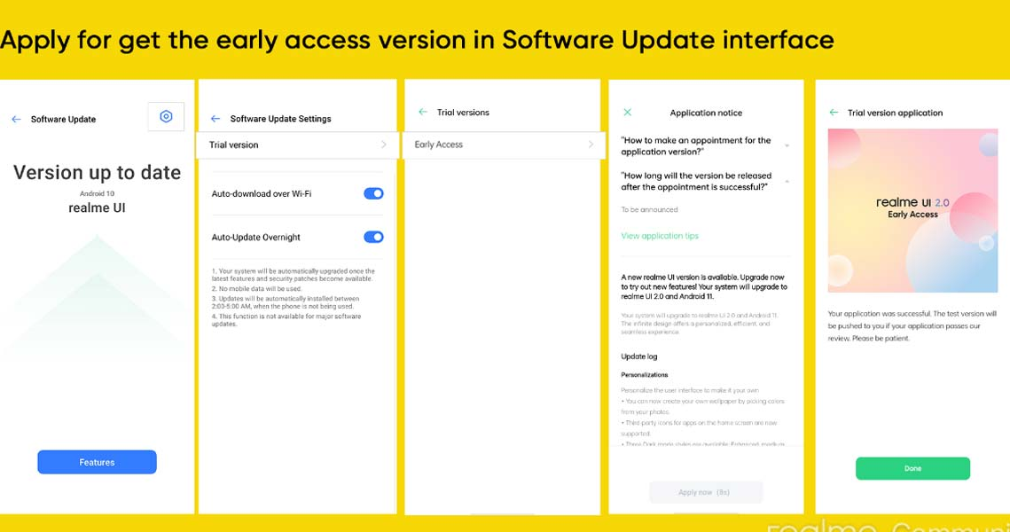 Realme X2 Realme UI 2.0 Beta Update