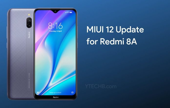 MIUI 12 Update for Redmi 8A