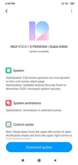 Redmi Note 6 Pro MIUI 12 Update