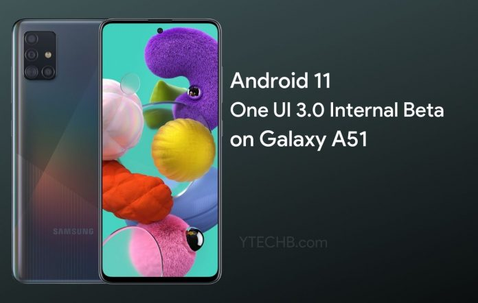 Samsung Galaxy A51 One UI 3.0 Beta