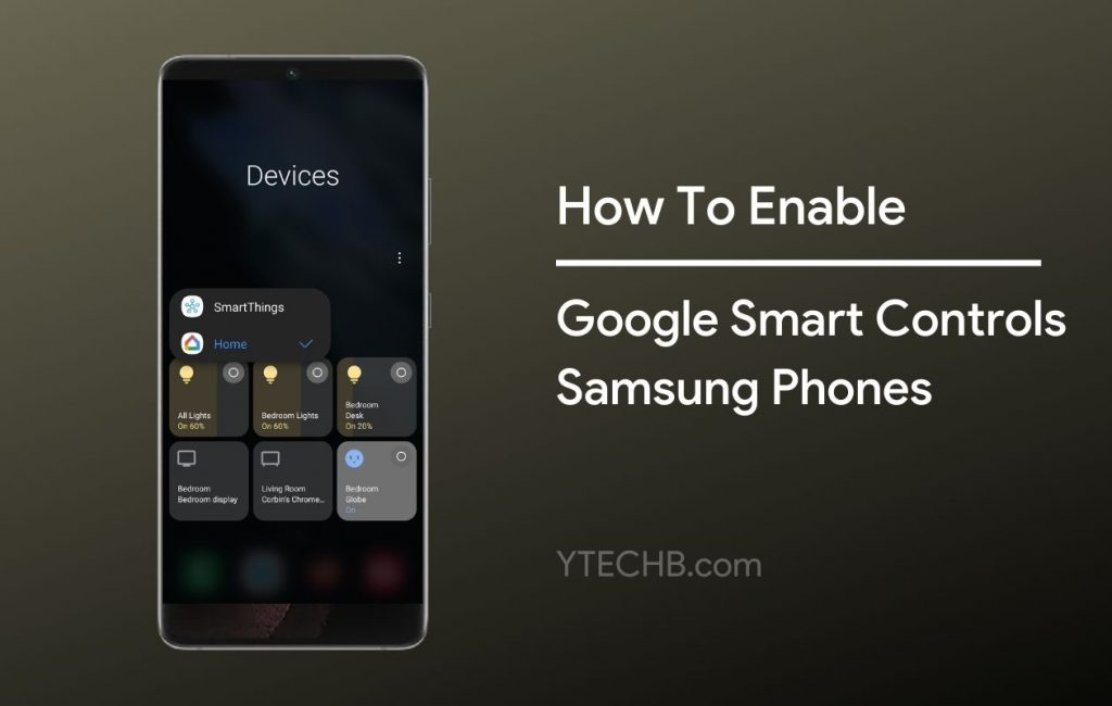 how to access smart home controls on Samsung phones