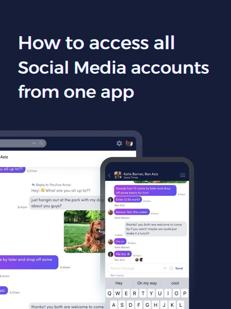 Access all social media accounts from one App