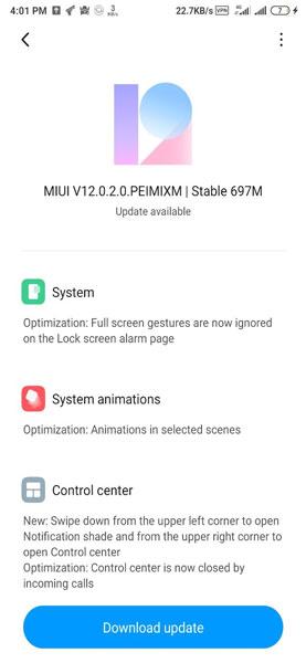 Redmi Note 5 MIUI 12 Update