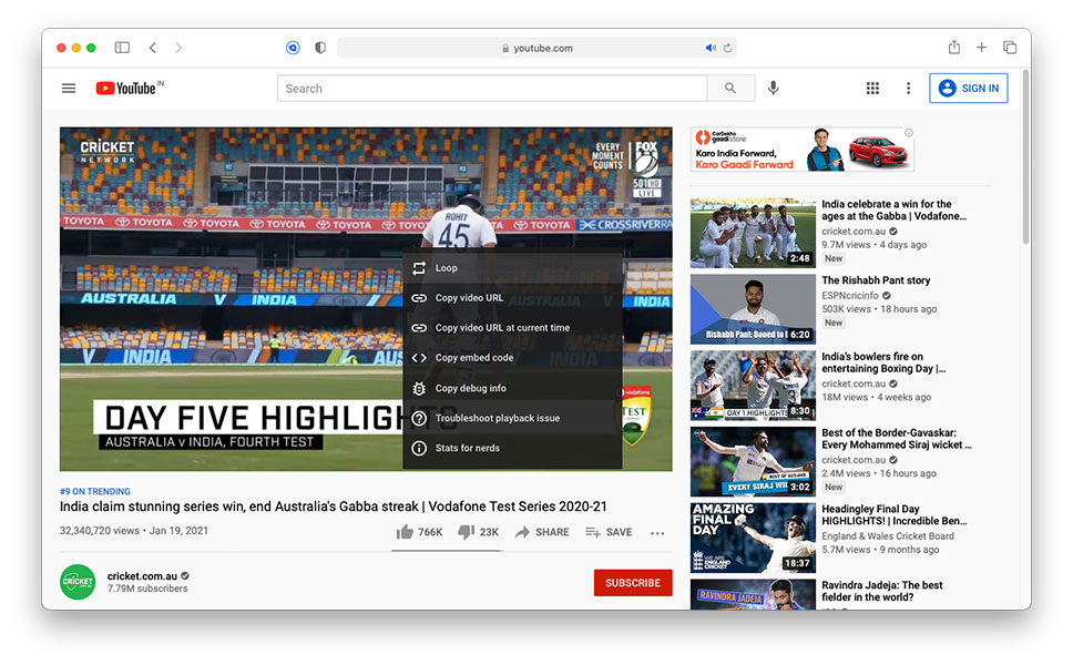How to watch youtube videos in picture in picture in safari