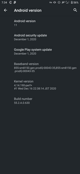 Sony Xperia 5 Android 11 Update