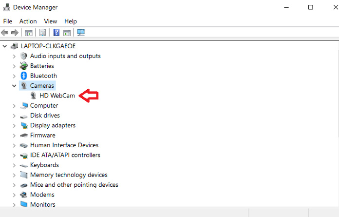 How to Disable Camera in Windows 10