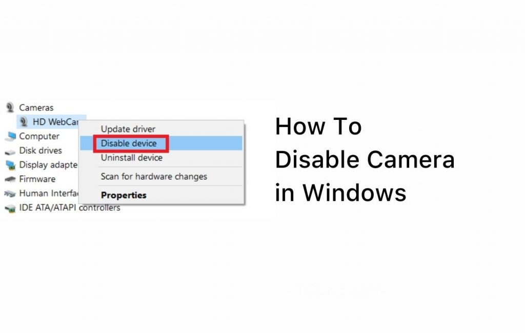 How to Disable Camera in Laptop (Windows Guide)