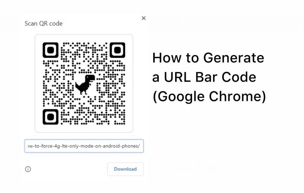 How to Generate QR Code for any URL in Google Chrome