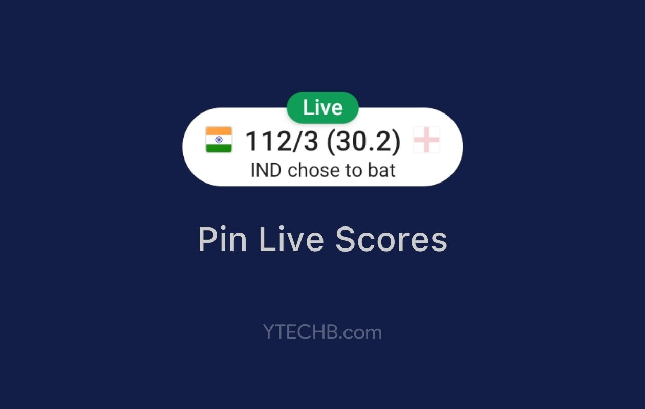 How to Pin Live Cricket Scores on your Android Home Screen