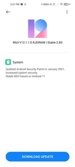 Mi 10T Pro Android 11 Update