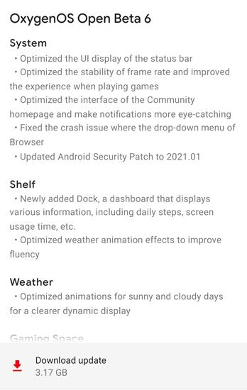 OnePlus 8 Pro OxygenOS 11 Beta 6