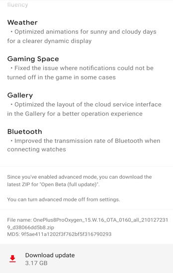 OnePlus 8 Pro OxygenOS Open Beta 6