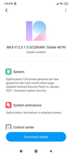 Redmi 8A Dual MIUI 12 Update